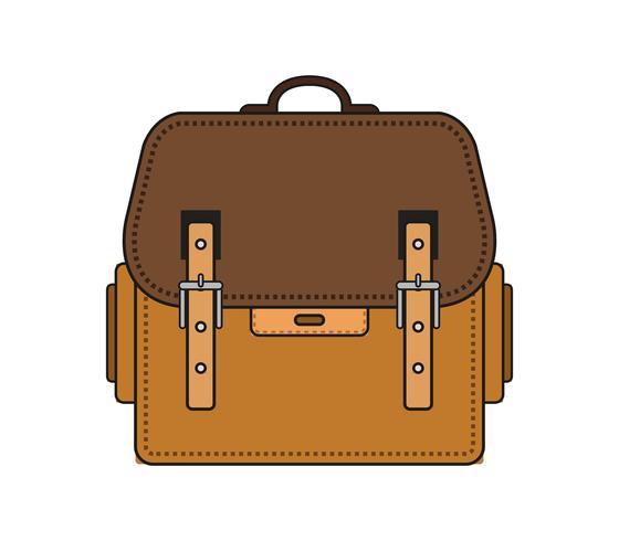 Schultasche-Symbol auf weißem Grund vektor
