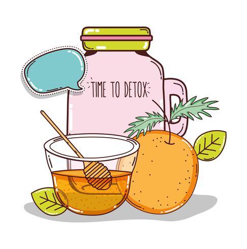 detox juice cartoon vektor