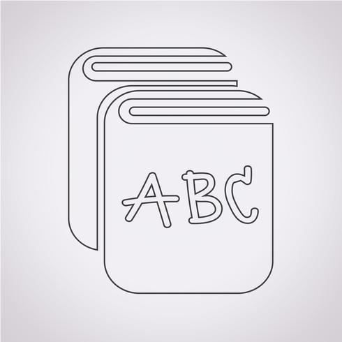 Bok Icon symbol tecken vektor