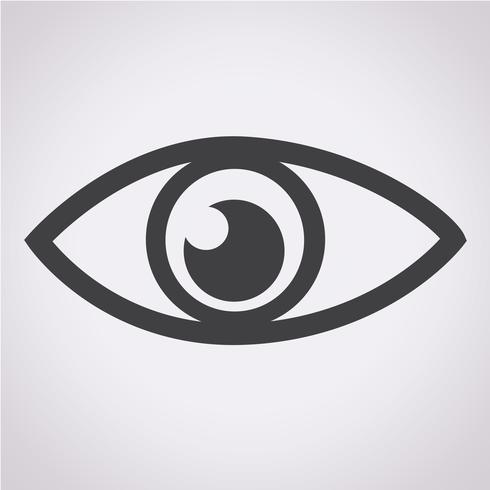 Symbol för ikon för ögonikonen vektor