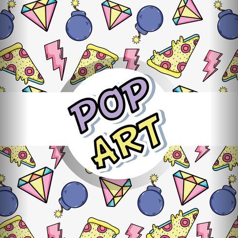 Pop-Art-Hintergrund-Cartoons vektor