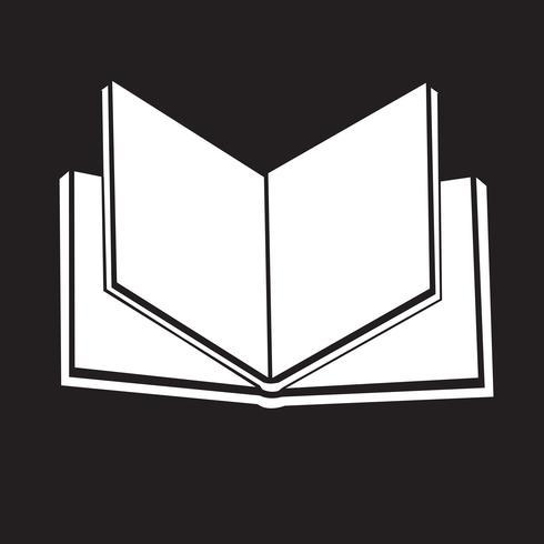 Bok ikon symbol tecken vektor