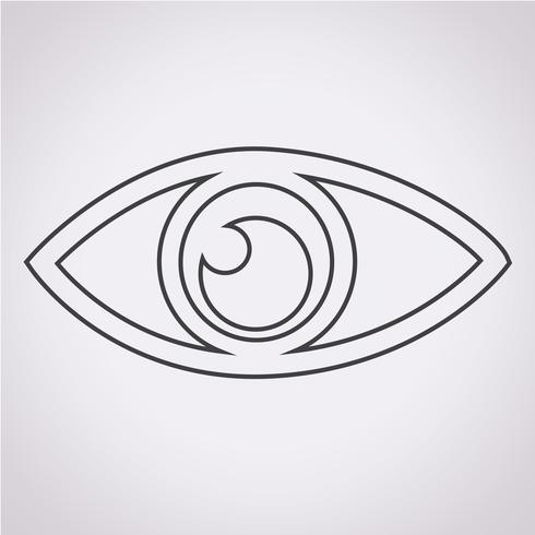 Augensymbol Symbol Zeichen vektor