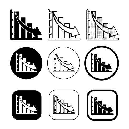 Einfacher Satz des Diagramm- und Diagrammsymbols vektor