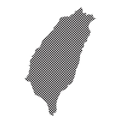Taiwan karta symbol tecken vektor