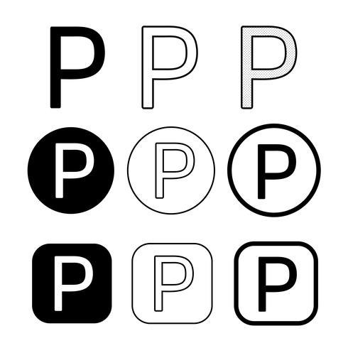ikon för symbol för upphovsrättens fonogramsymbol vektor
