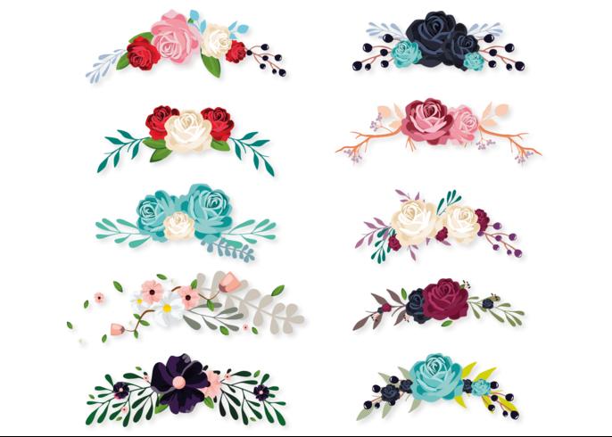 Bouquet Set vektor