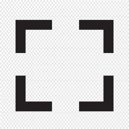 Fokusikonen underteckna Illustration vektor