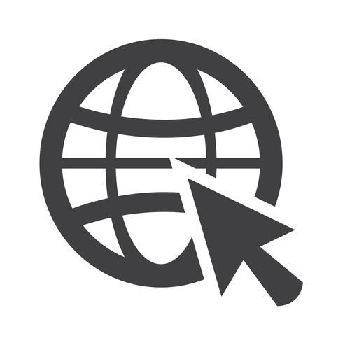 Gehen Sie Web-Symbol vektor
