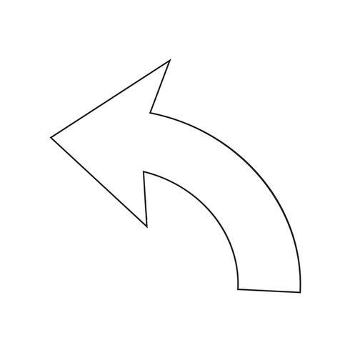 Rückgängig Icon Zeichen Illustration vektor