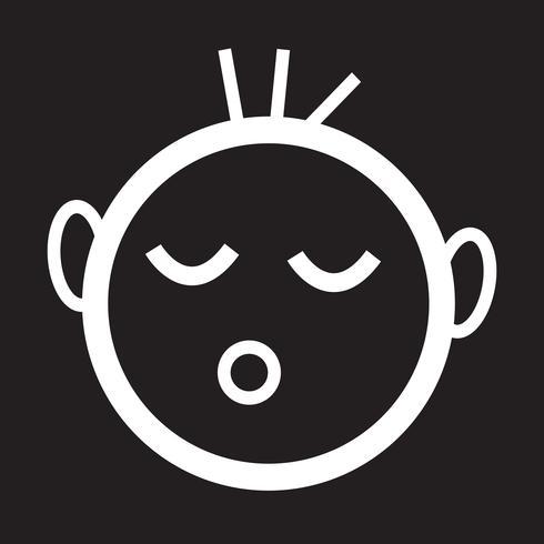 baby sova ikon vektor