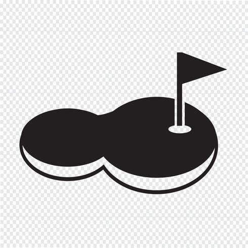 golfbanans ikon vektor