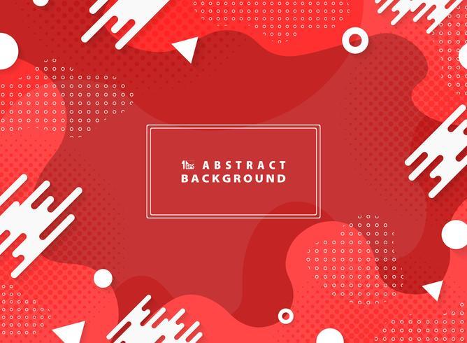 Geometrischer Elementhintergrund des abstrakten lebenden korallenroten Vektordesigns. Abbildung Vektor eps10