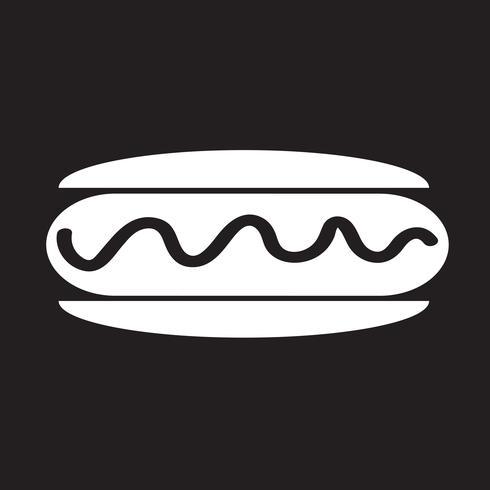 Wurst-Hot-Dog-Symbol vektor