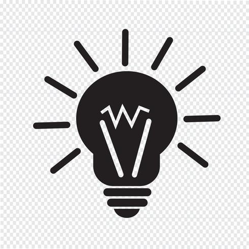 ljus idéikon vektor