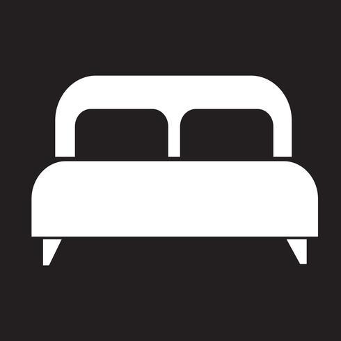 Doppelbett-Symbol vektor