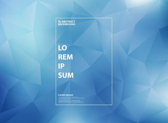 Abstraktes modernes Steigungsblau im niedrigen Polygondreieck kopiert Hintergrund. Sie können für Covergrafiken, Anzeigen, Poster, Web, Druck und Berichte verwenden. vektor