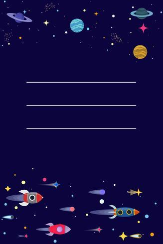 Cartoon Sci Fi Space Hintergrund. Vektor-Illustration vektor
