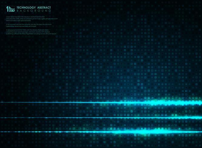 Abstraktes futuristisches blaues quadratisches Muster des Technologieenergiehintergrundes. Abbildung Vektor eps10