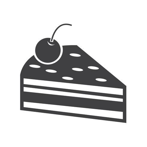 Kuchen Stück Symbol vektor