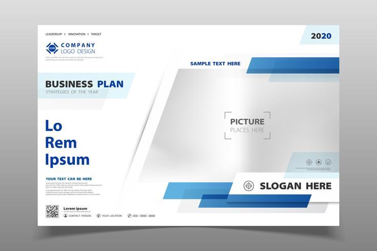 Abstrakter moderner blauer Farbschablonen-Broschürenhintergrund von geometrischem. Sie können für Business-Broschüre Präsentation, Arbeit, Broschüre, Poster verwenden. vektor