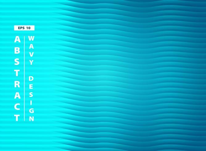 Abstraktes blaues Aquaseewellenförmiger Musterdesignhintergrund. Abbildung Vektor eps10