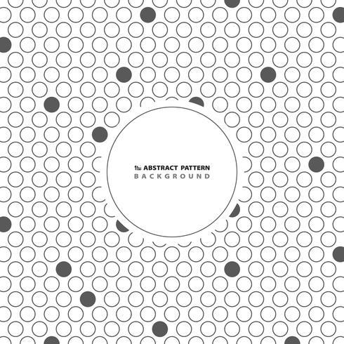 Abstrakt cirkel grå prickmönster bakgrund med kopia utrymme. Du kan använda för att täcka konstverk design, modern annons, affisch, omslag. vektor