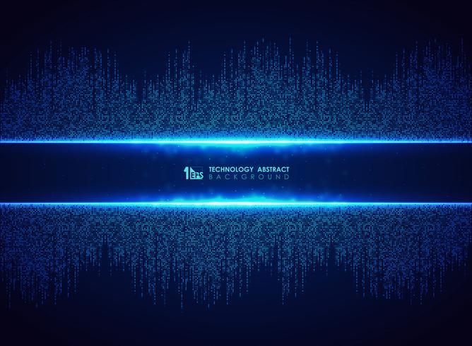 Abstrakt blå teknik av kvadratisk anslutningsmönster bakgrund. Du kan använda för futuristisk grafisk design, hej tech, affisch, bok, konstverk. vektor