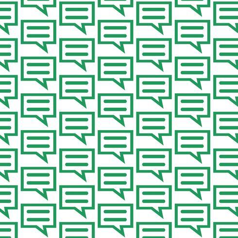 Mönster bakgrund pratar bubbla chatt ikon vektor