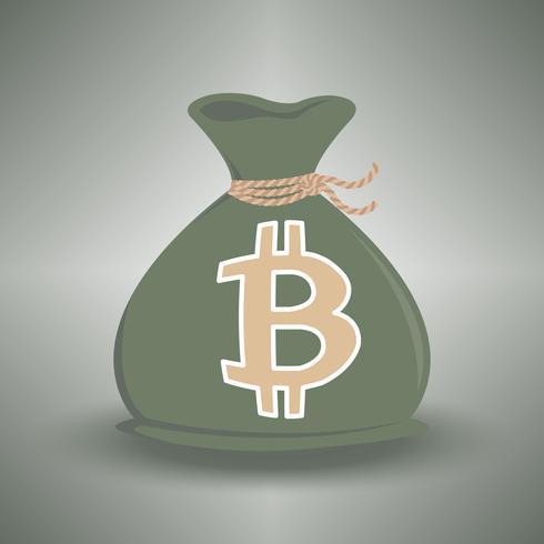 mörkgröna pengar väska vektor