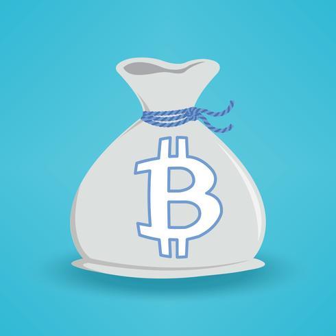 Blaue BG Bitcoin Geldtasche vektor