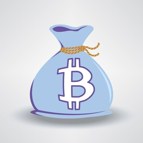 Blå Bitcoin Pengarväska vektor