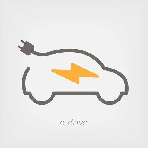 Elektrisk bil vektor illustration