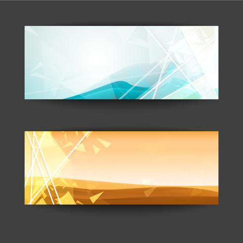 Set av abstrakt banner is berg och öken bakgrund. vektor