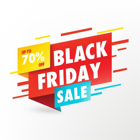 Schwarzer Freitag-Verkaufs-Fahnen-Vektor-Design vektor