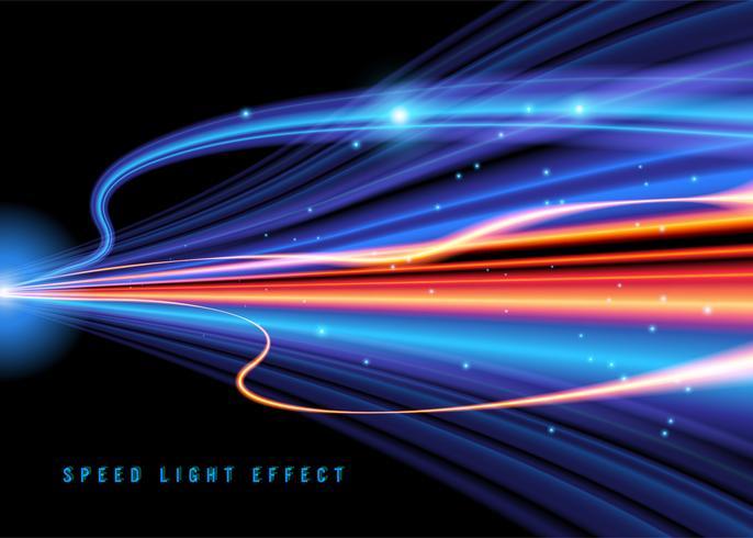 Fantasy Light Speed Hintergrund vektor