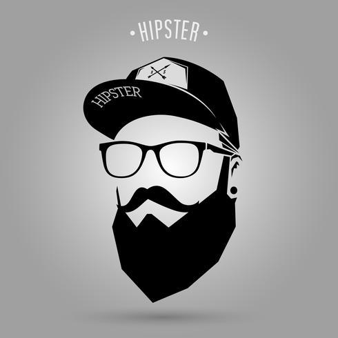 hipster män cap vektor