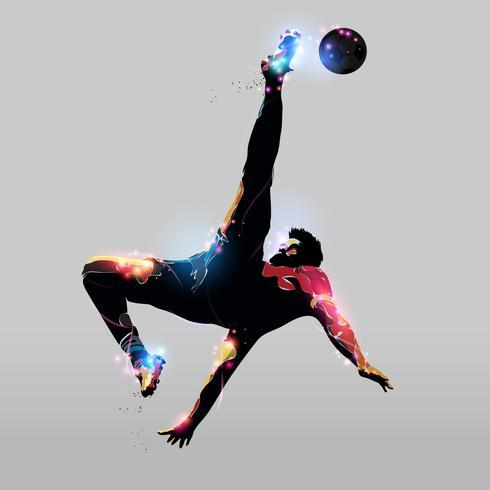 abstrakter Overhead-Kick vektor