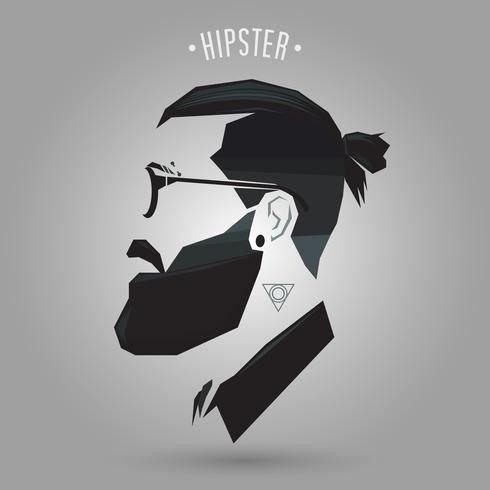 Hipster hårstil vektor