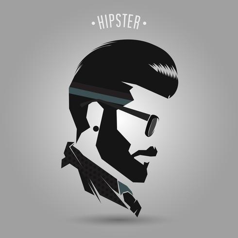 Hipster Vintage Frisur vektor