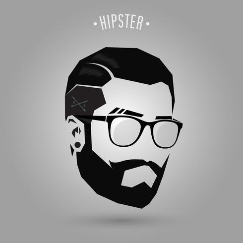Hipster mit kurzen Haaren vektor