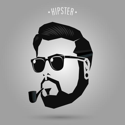 Hipster Männer Rohr vektor
