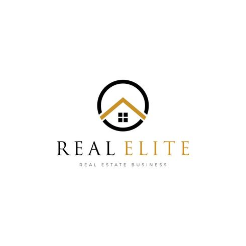 Simple Real Estate Properties Logo Mall vektor