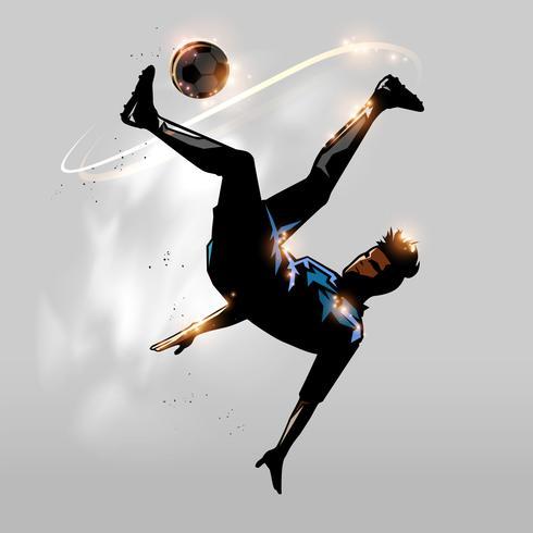 Fußball über Kopf vektor