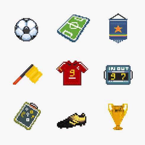 Fußball-Pixel-Symbol vektor