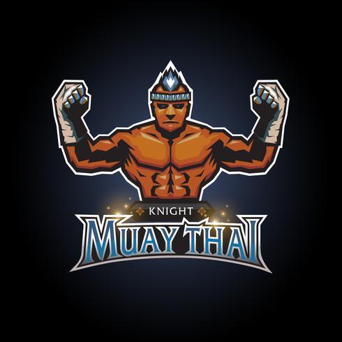Muay thailändsk klubblogo vektor