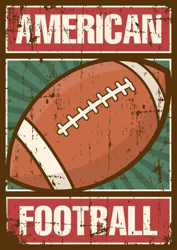 American Football Rugby Sport Retro Pop Art Poster Beschilderung vektor