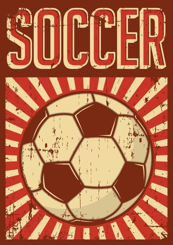 Fußball Fußball Sport Retro Pop Art Poster Beschilderung vektor