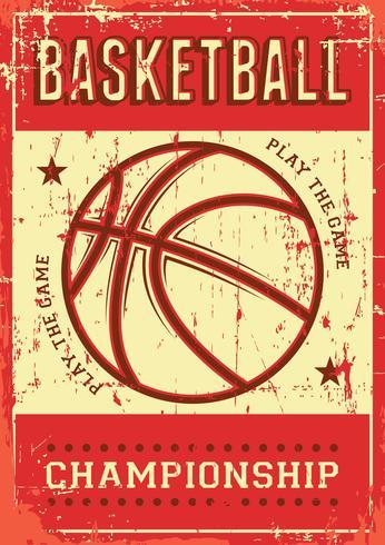 Basketfotboll Sport Retro Pop Art Poster Signage vektor