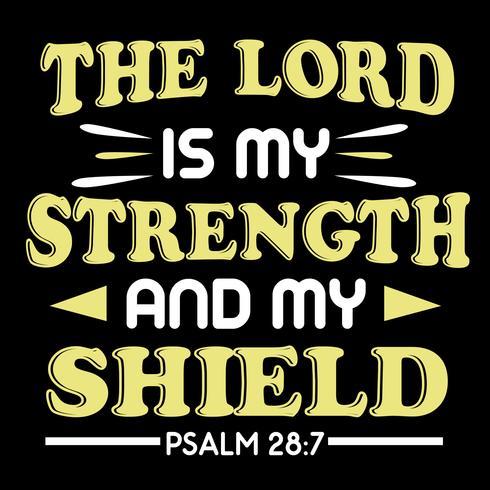 Herren är min styrka vektor